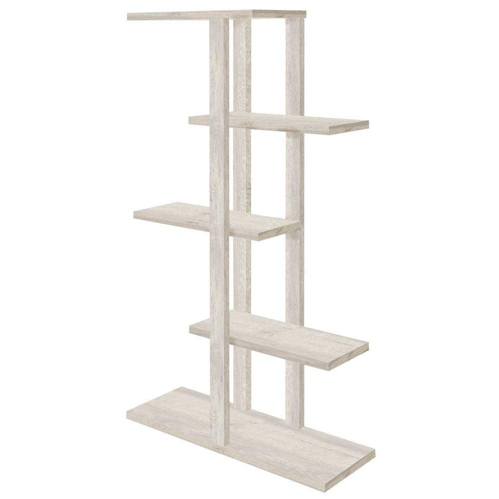 Etagère 5 niveaux Flexia chêne blanchi L90xP30xH165cm (photo)