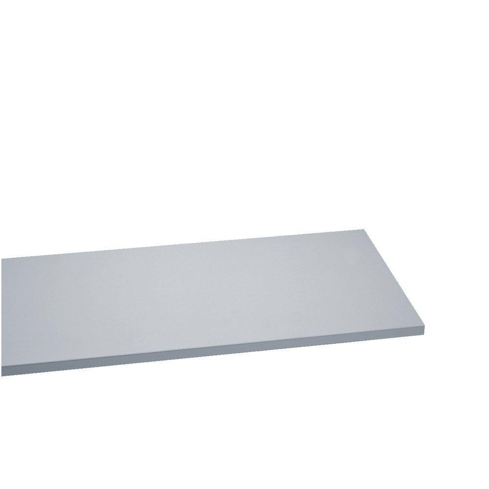 Tablette 120x30cm ep.22mm gris clair (photo)