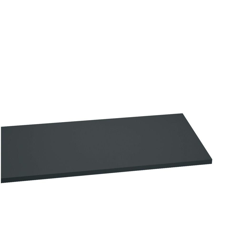 Tablette 60x30cm ep.22mm anthracite (photo)