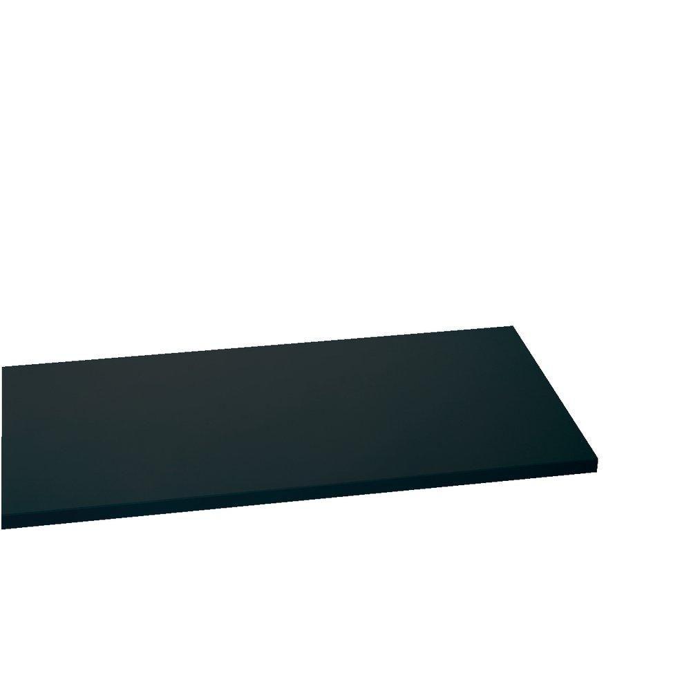 Tablette 60x30cm ep.22mm noir (photo)