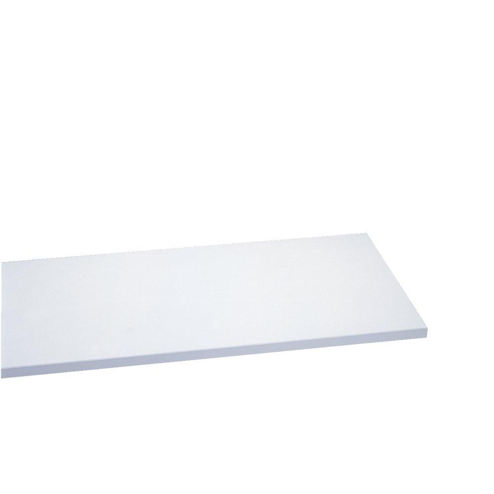 Tablette 60x30cm ep.22mm blanc (photo)