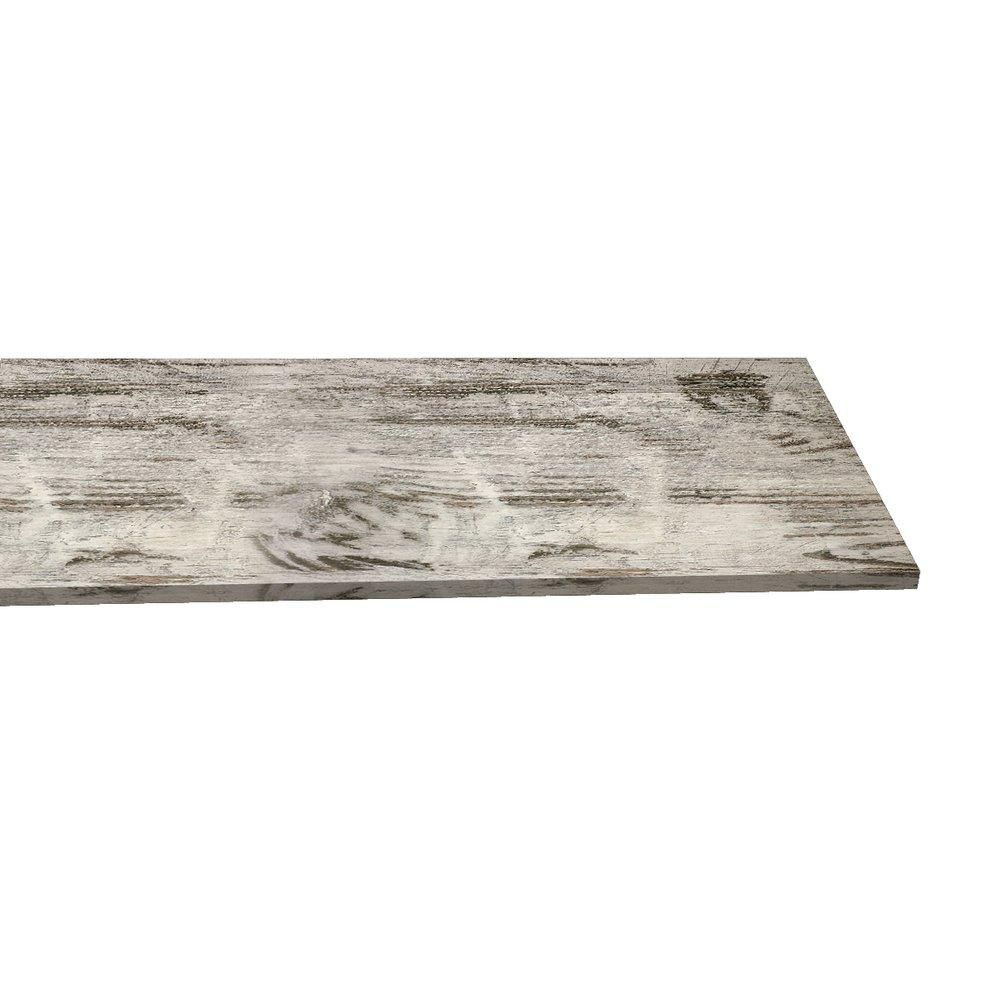 Tablette 120x30cm ep.18mm bois décapé (photo)