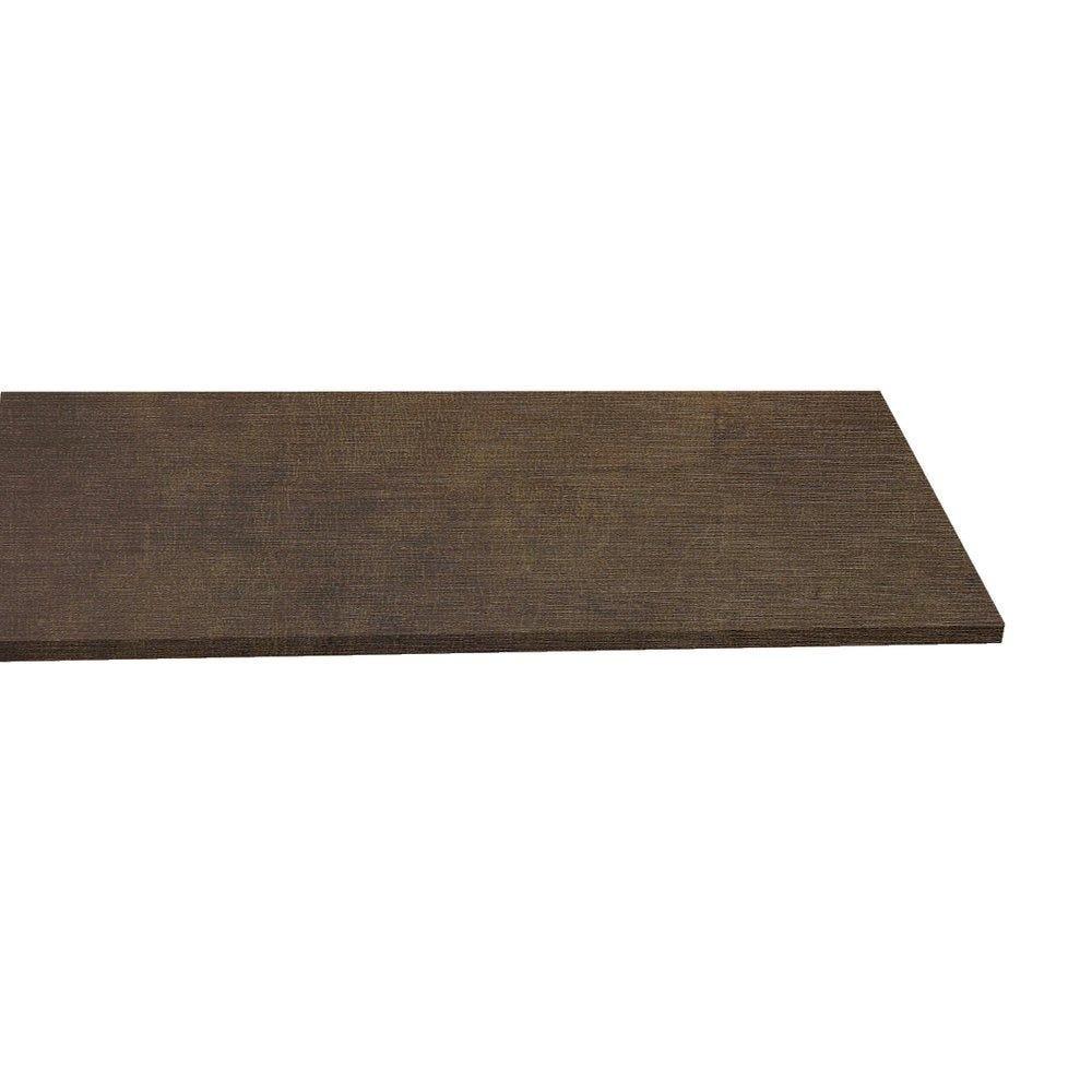 Tablette 120x30cm ep.18mm coloris toile bronze (photo)