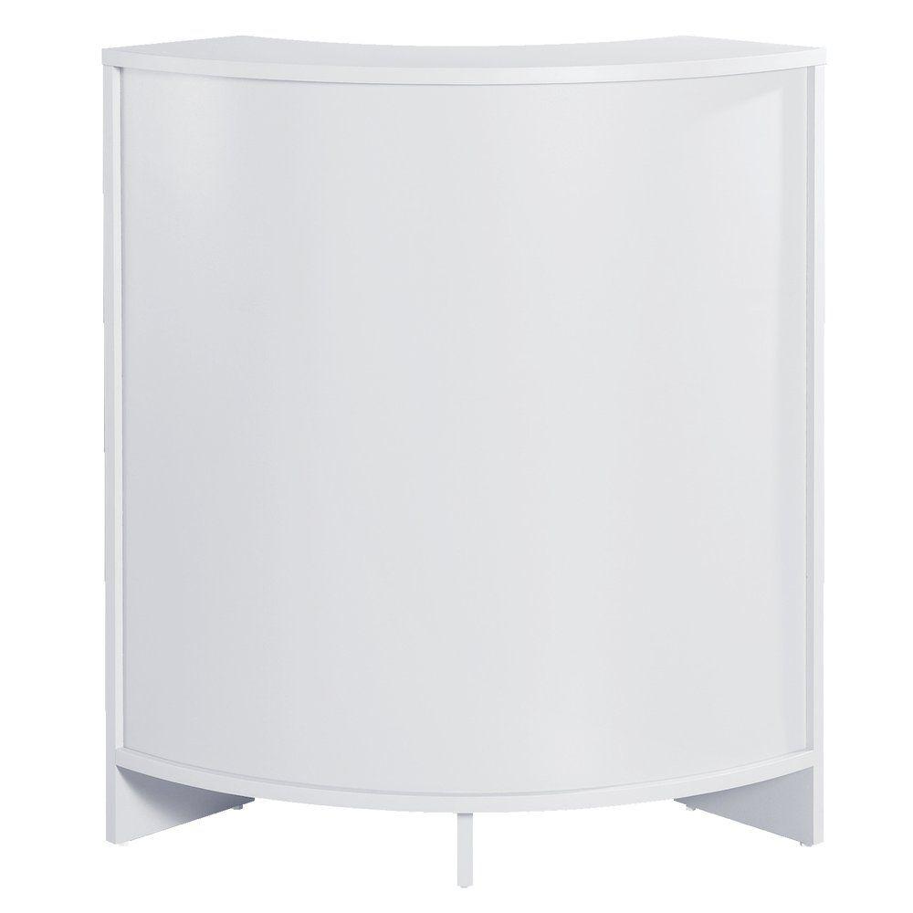 Comptoir d'angle Réceptio blanc L.60 x P.60 x H.96cm (photo)