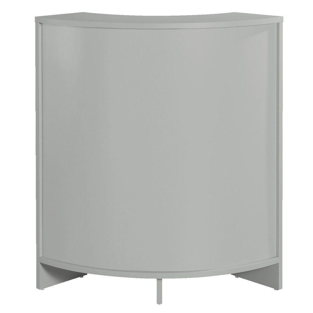 Comptoir d'angle Receptio gris L.60 x P.60 x H.96cm (photo)