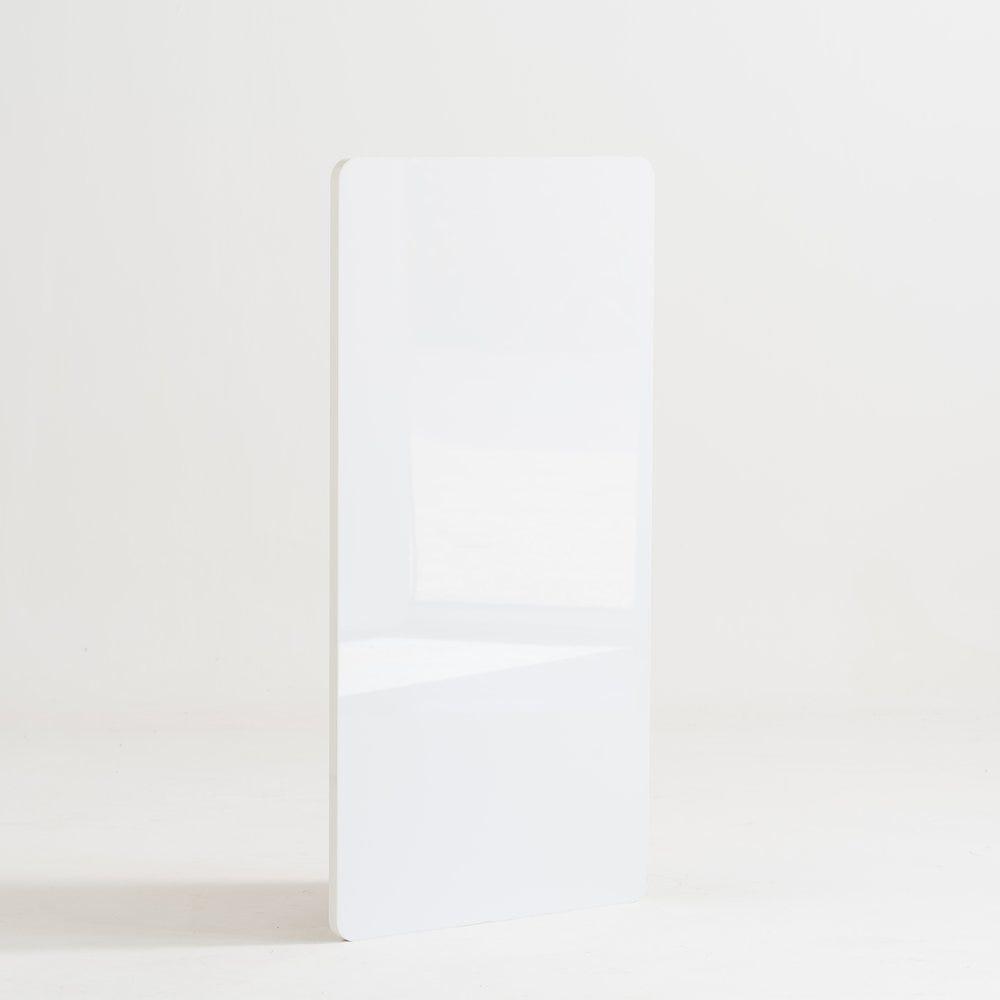 Façade de comptoir Réceptio blanc grand brillant L56cm (photo)