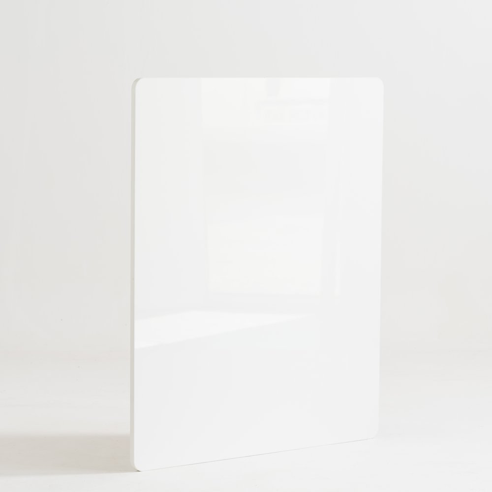 Façade de comptoir Réceptio blanc grand brillant L.90cm (photo)