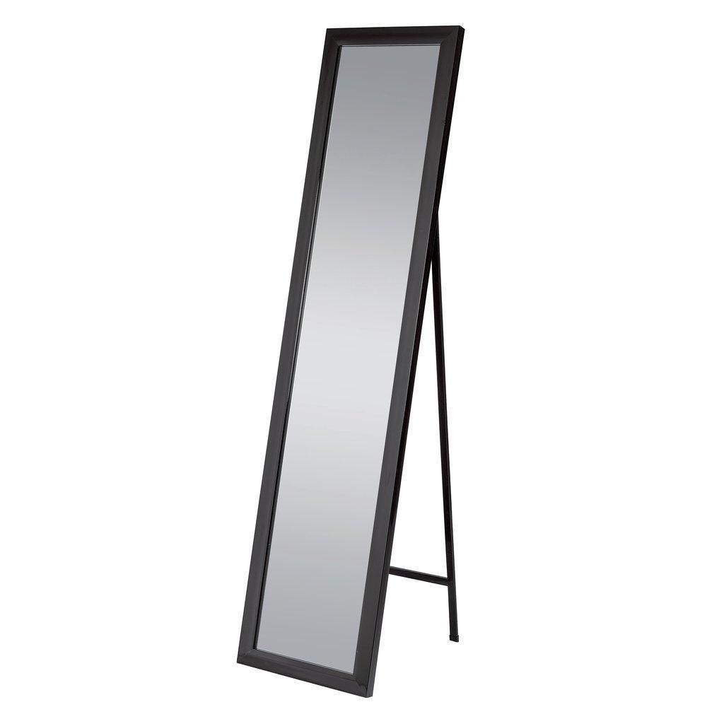 Miroir sur pied noir 37x157cm (photo)