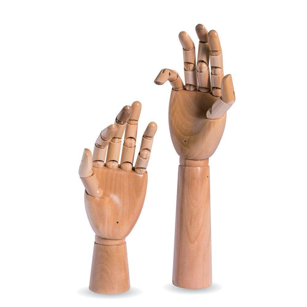 Mains femme Vintage bois naturel H25cm+H33cm par 2 (photo)