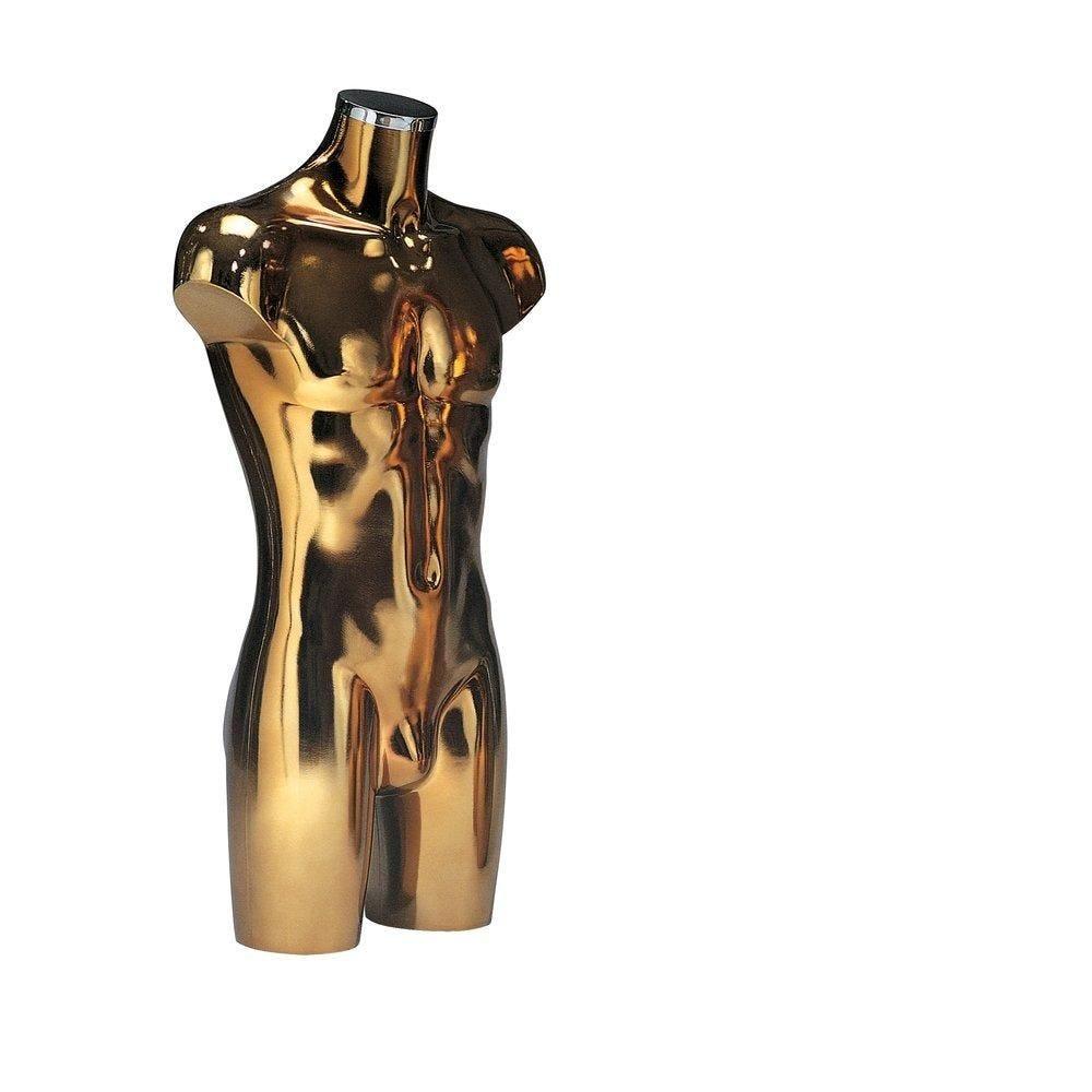Buste Torso homme métallisé doré (photo)