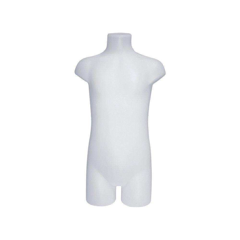 Buste Torso enfant polyéthylène HD blanc L.32xP.14xH.58 cm (photo)