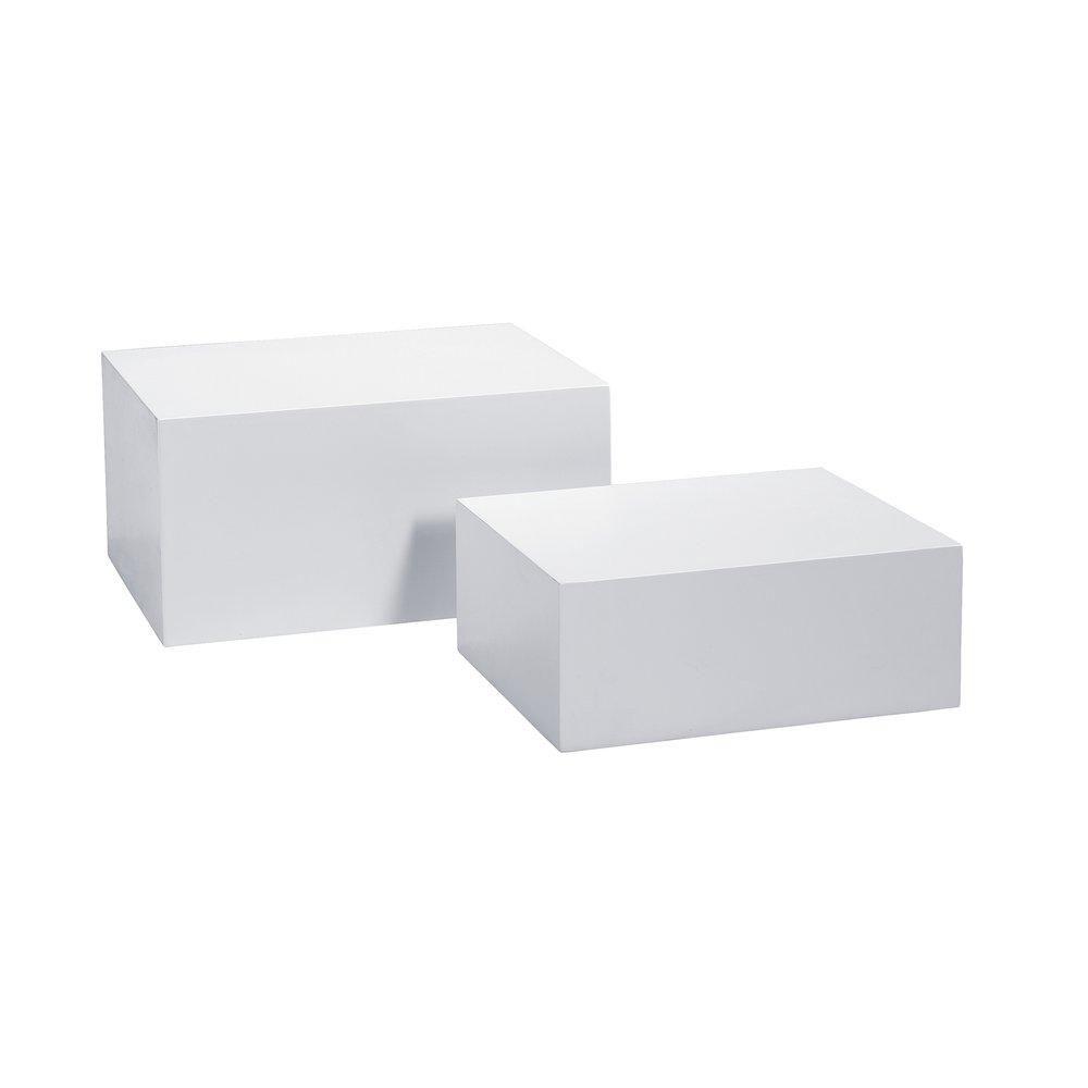 Podium blanc mat 60x45x30cm + 50x40x20cm par set de 2 (photo)