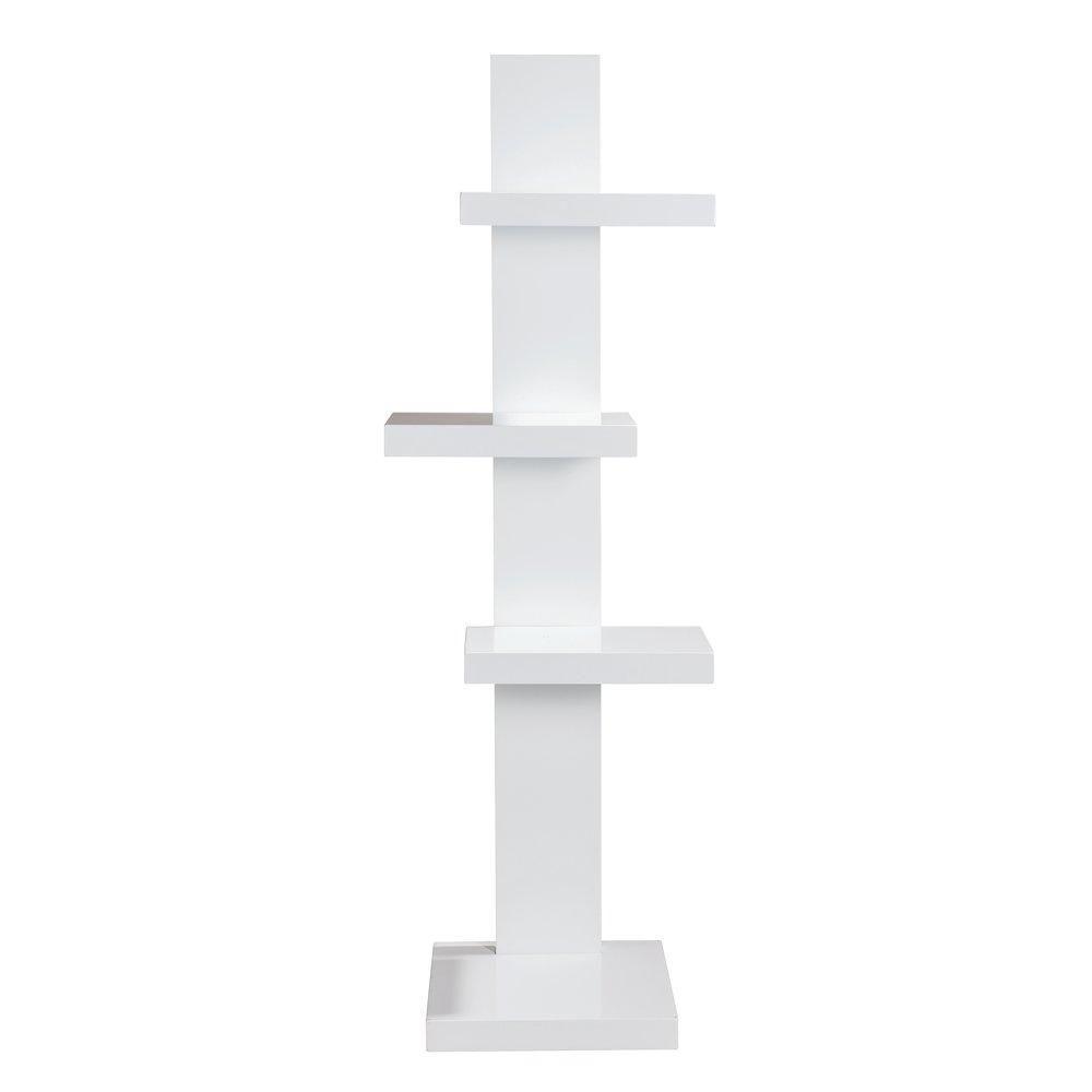 Etagère 4 niveaux blanc mat 32x43x130cm (photo)