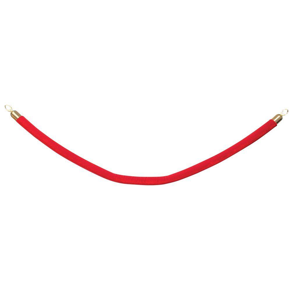 Cordon rouge l.1.50m avec embouts dorés (photo)