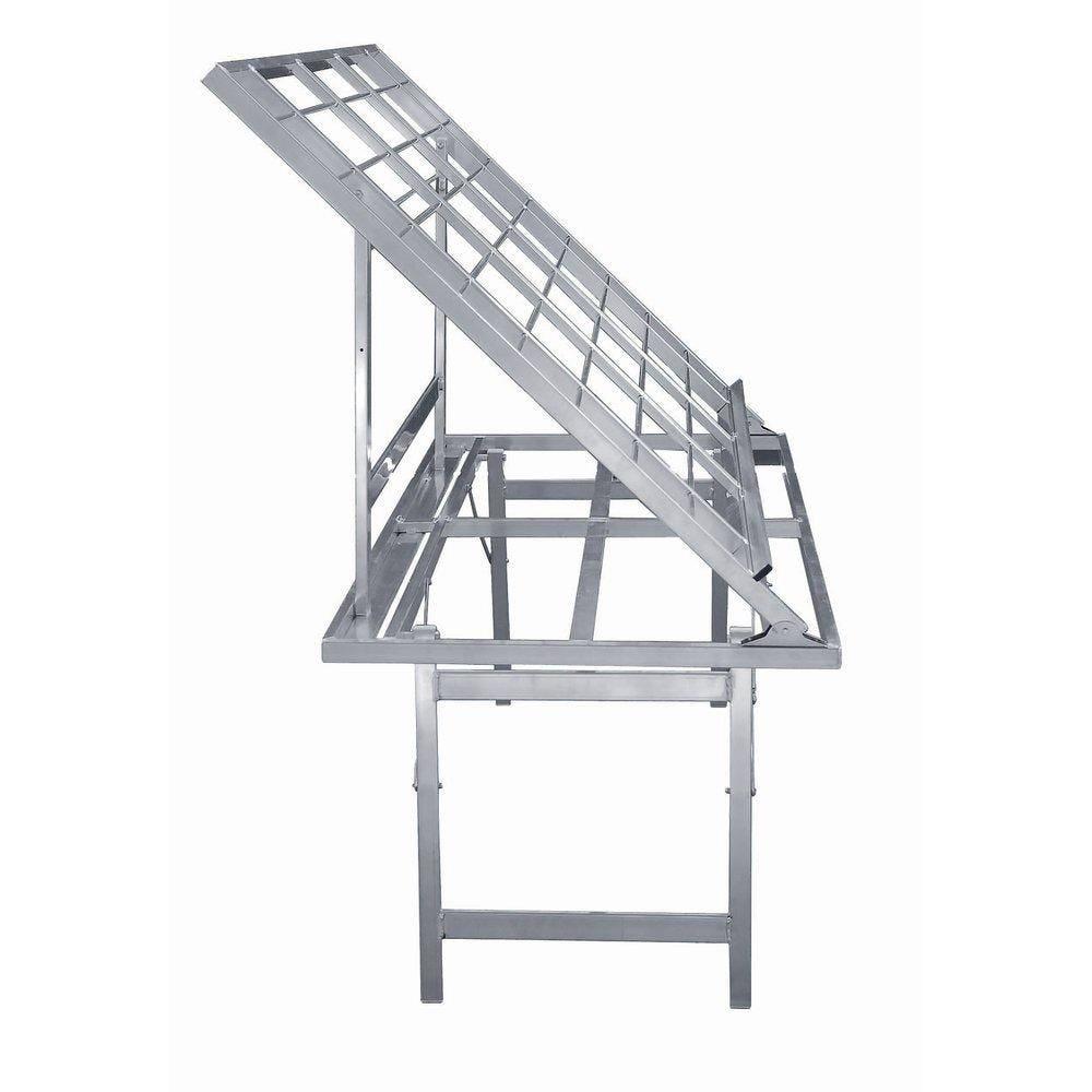 Table aluminium inclinée 150x80x150cm (photo)