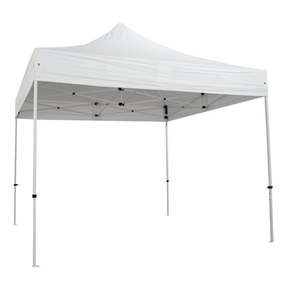 Tente blanc 3x3m structure acier toit polyester 200 g/m²