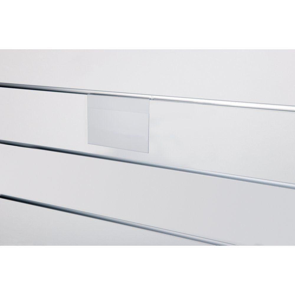 Porte-affiche A7 horizontal x 10 pour panneau rainuré (photo)