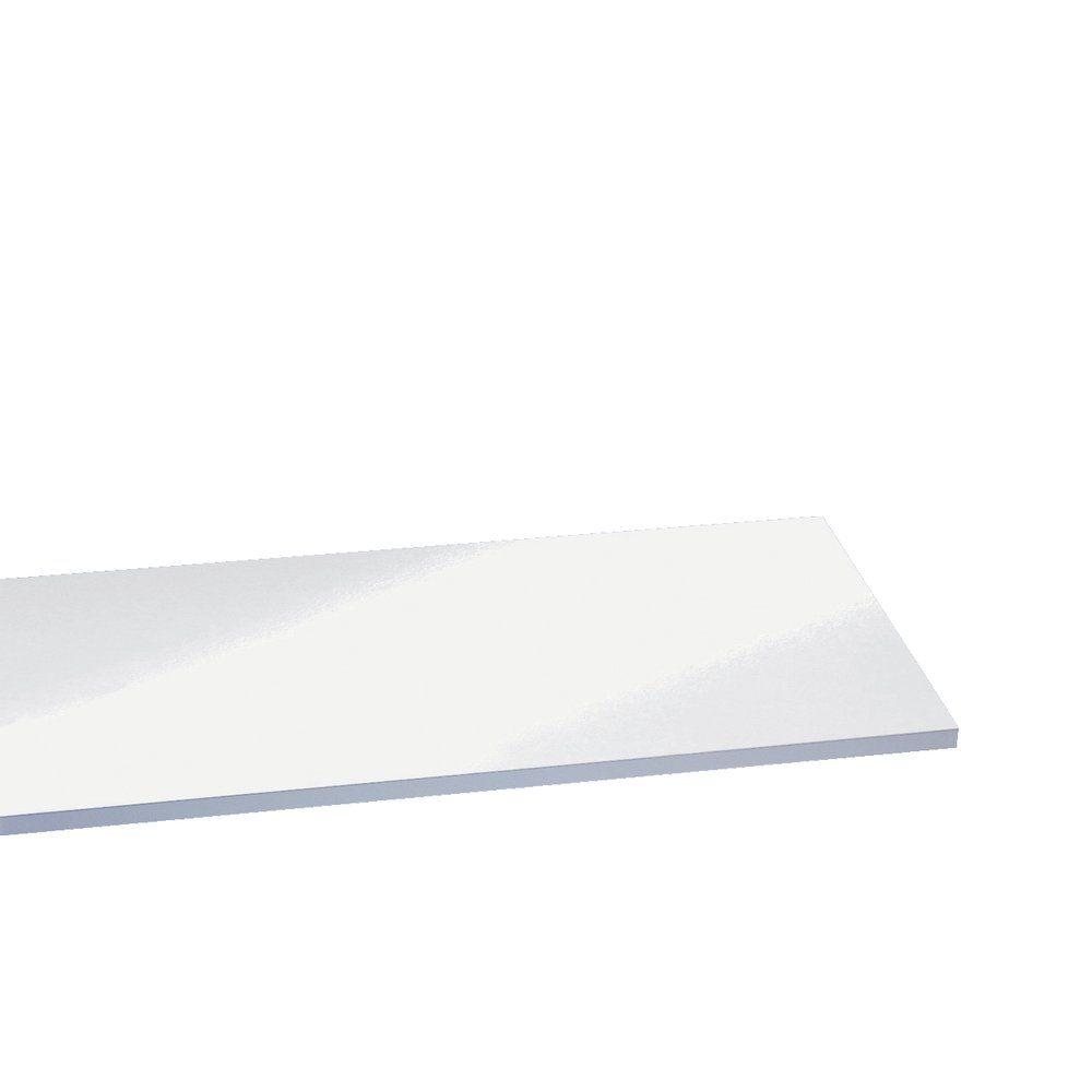 Tablette 35x20cm épaisseur 18mm blanc laqué (photo)