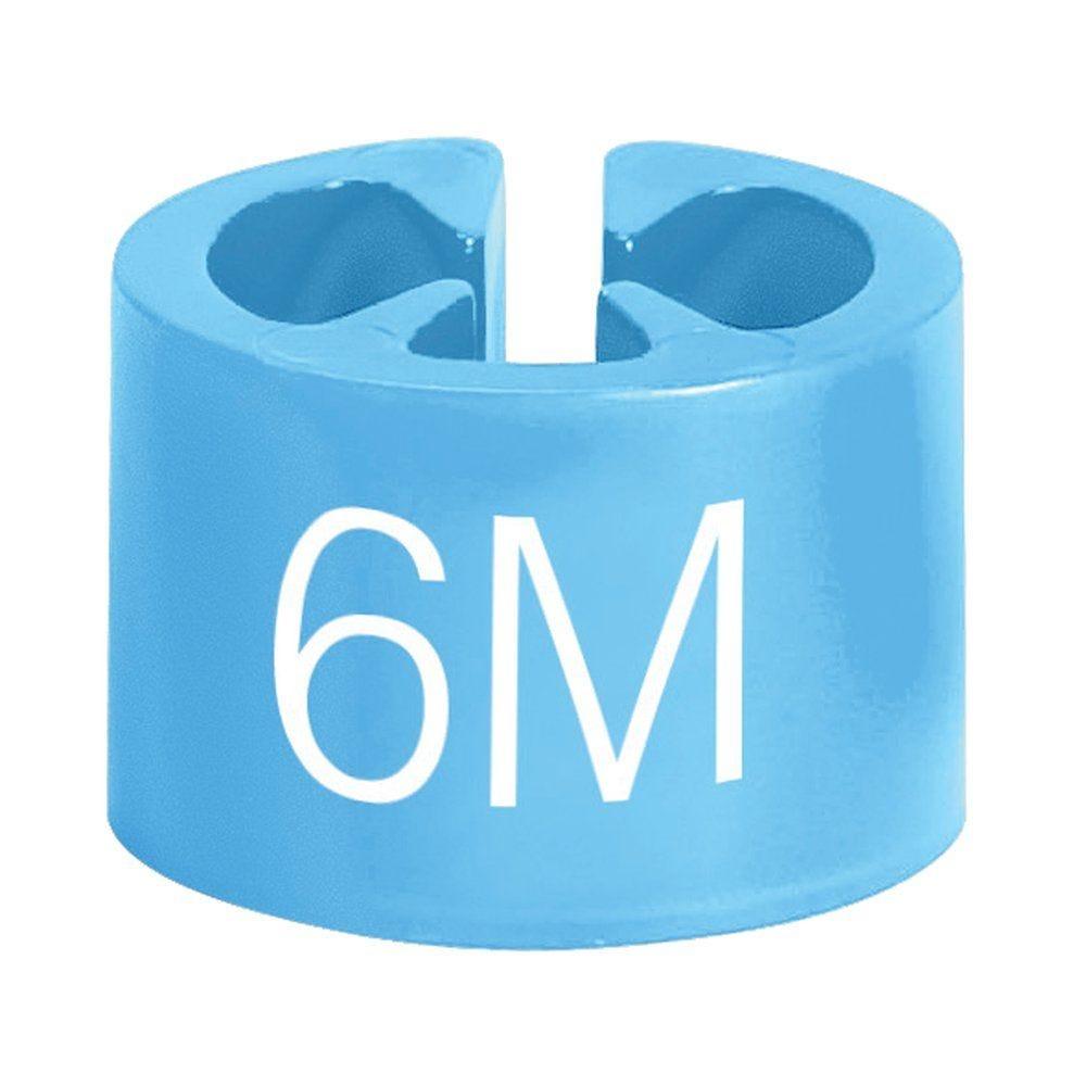 Marque tailles 6 mois bleu clair par 50 (photo)