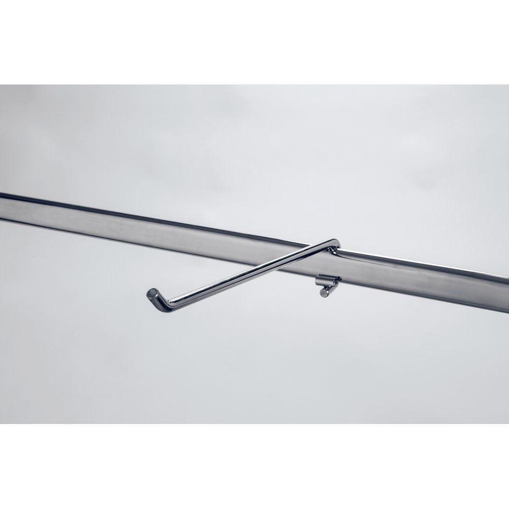 Bras droit L.34cm chrome (photo)