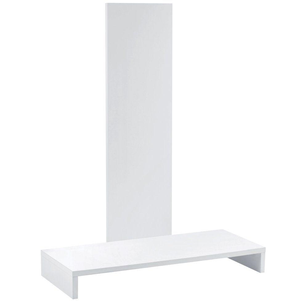 Podium avec fond blanc L.115 x P.45 x H.50cm (photo)