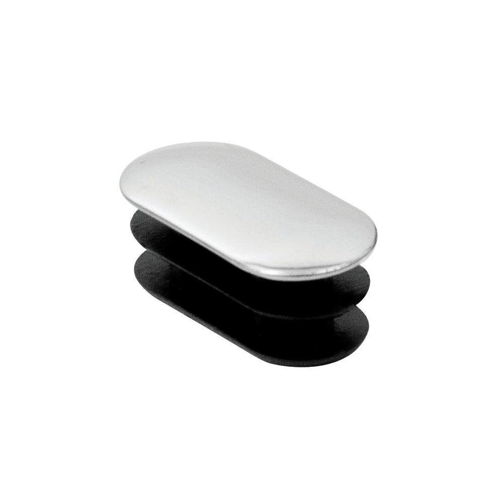 Embout chromé pour tube ovale 36x18mm (photo)