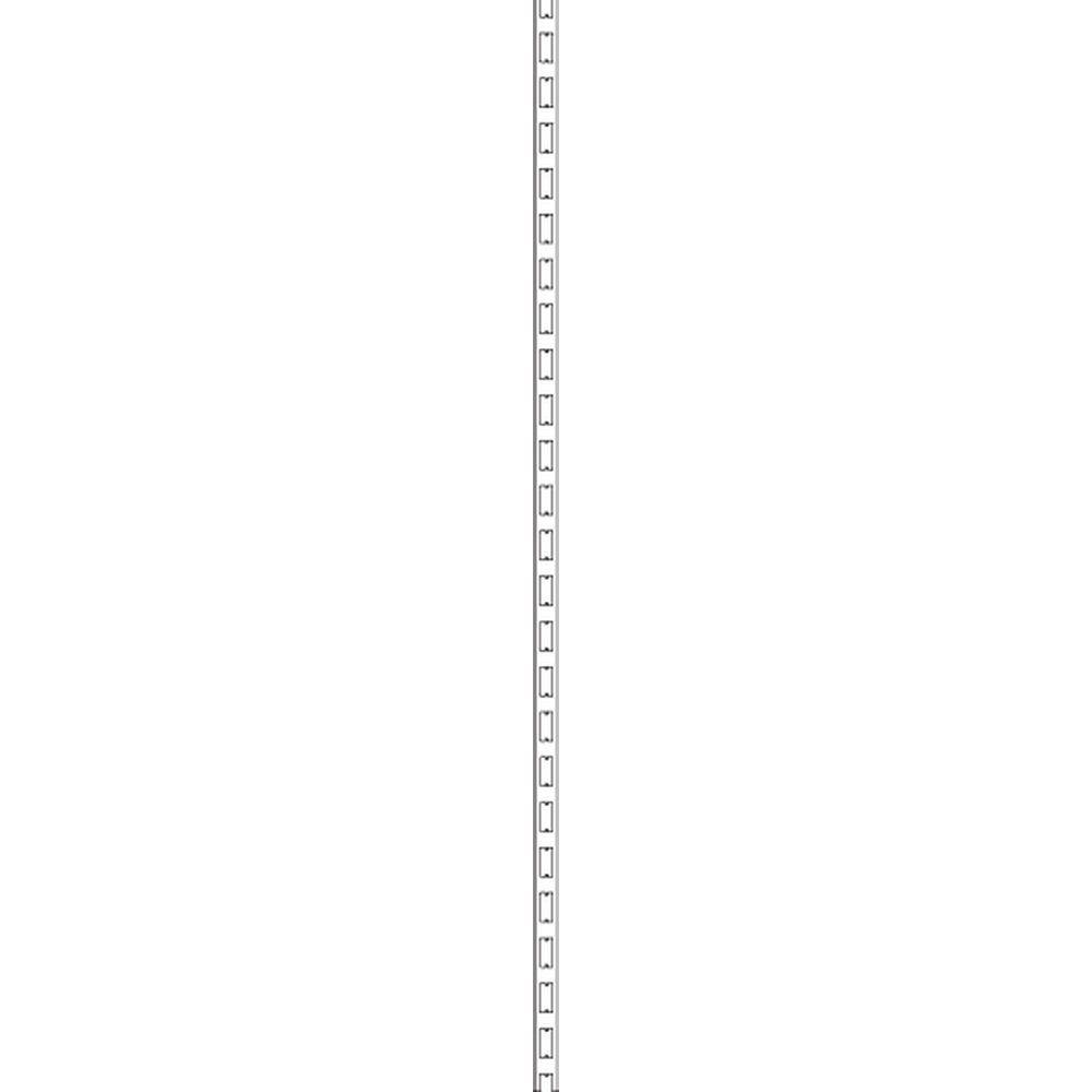 Montant H143cmx6cm blanc 9003