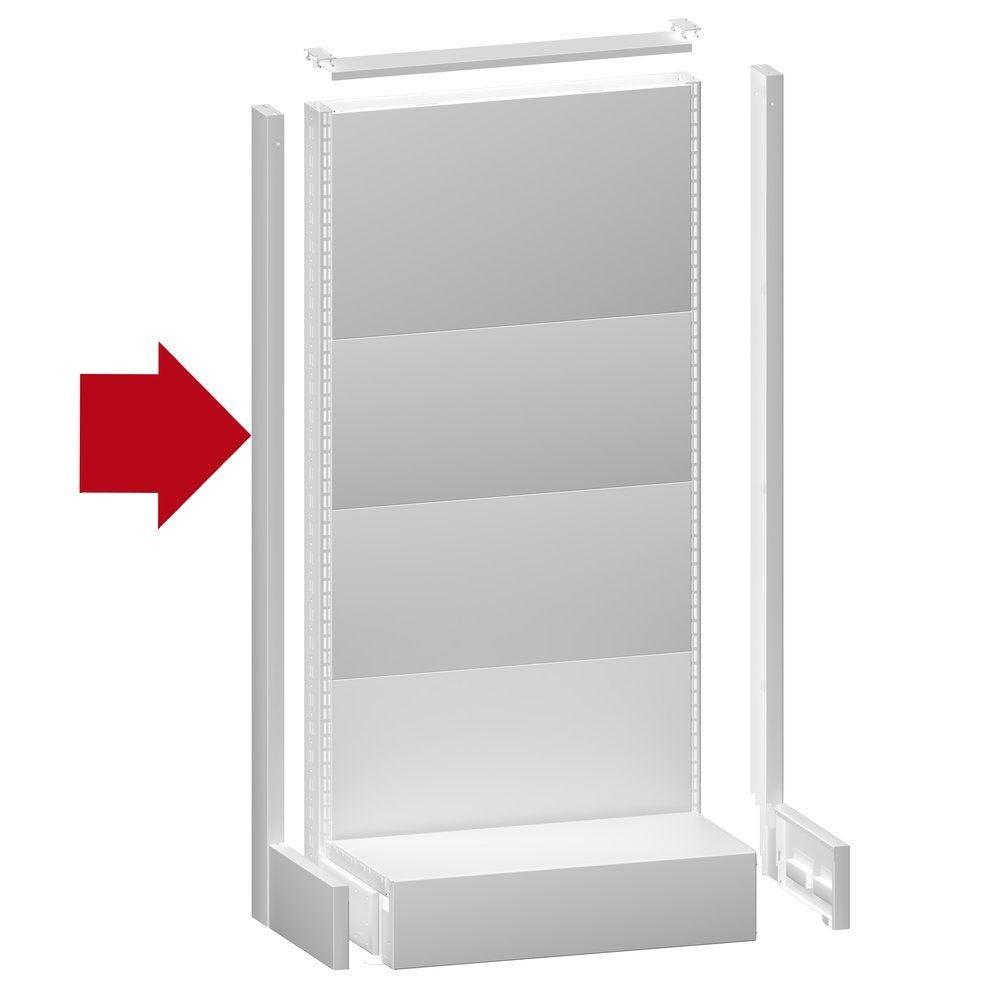 Cache montant H143x6cm blanc 9003