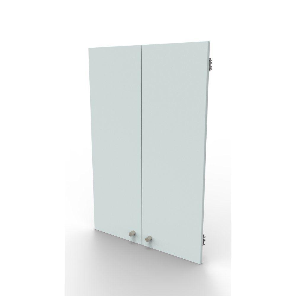 Kit 2 portes blanc pour meuble haut