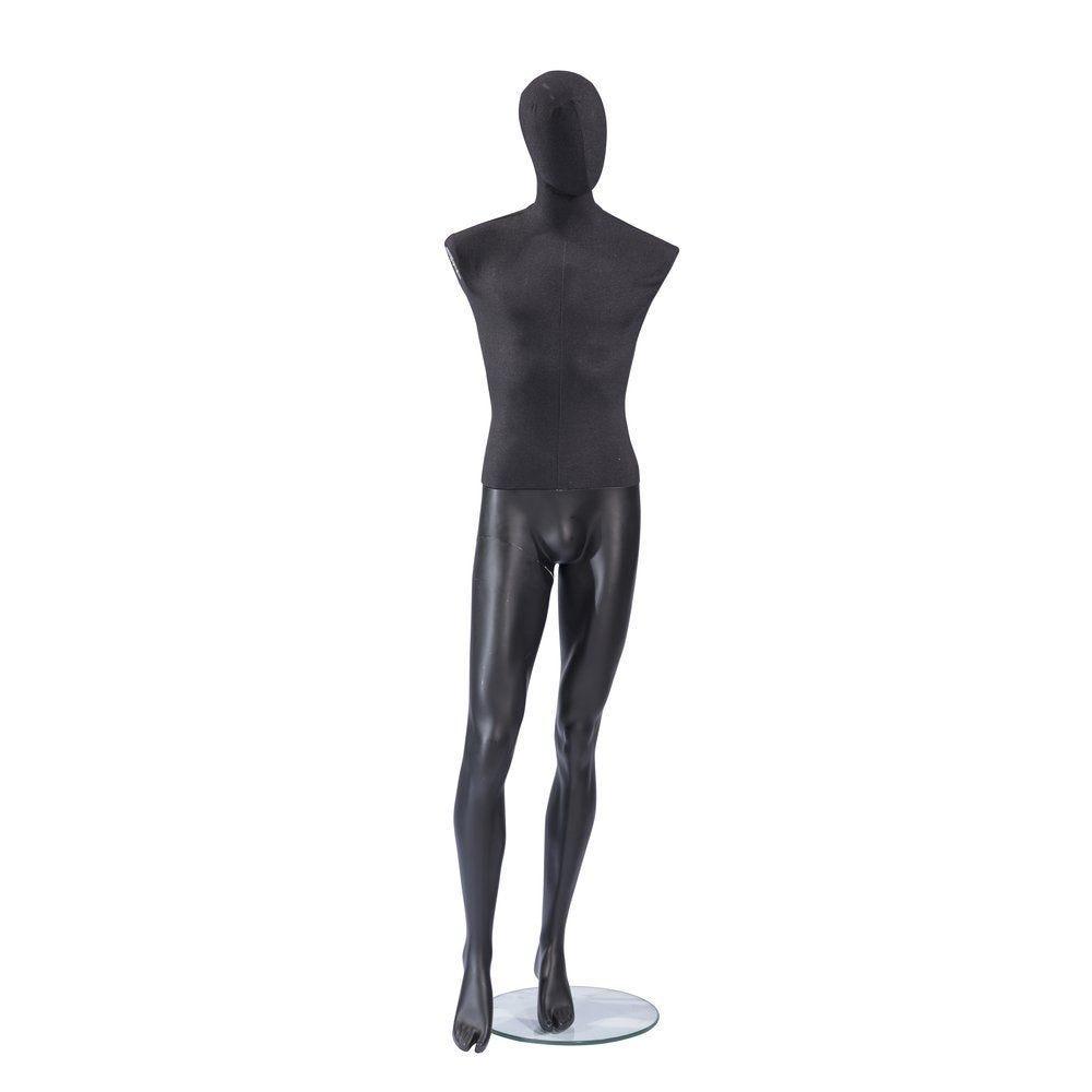 Mannequin homme Vintage tête et buste lin noir jambes noires