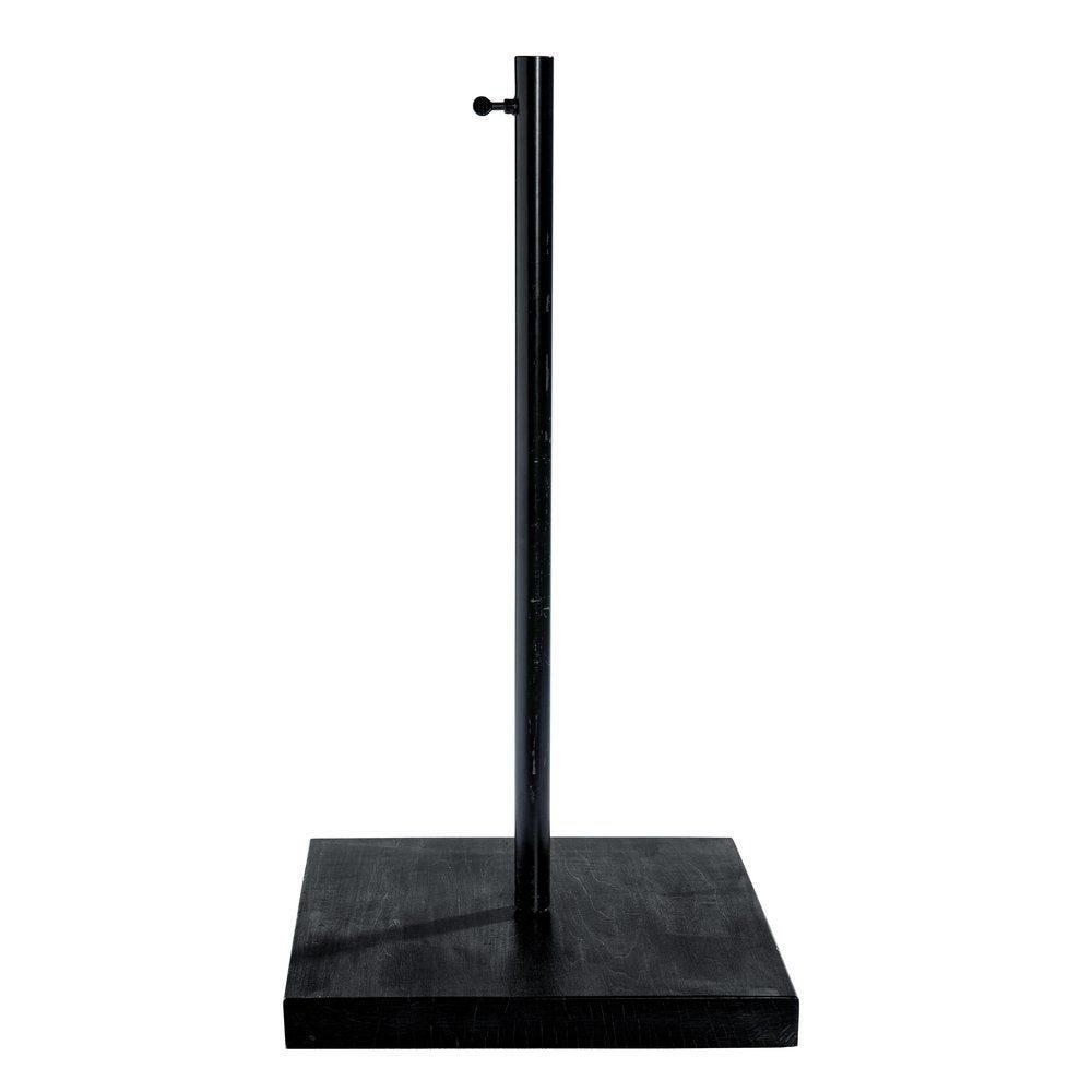 Pied buste Vintage base bois noir tige métal noir