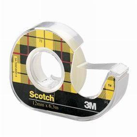 Adhésif scotch  double face 6,3 m x 12 mm (photo)