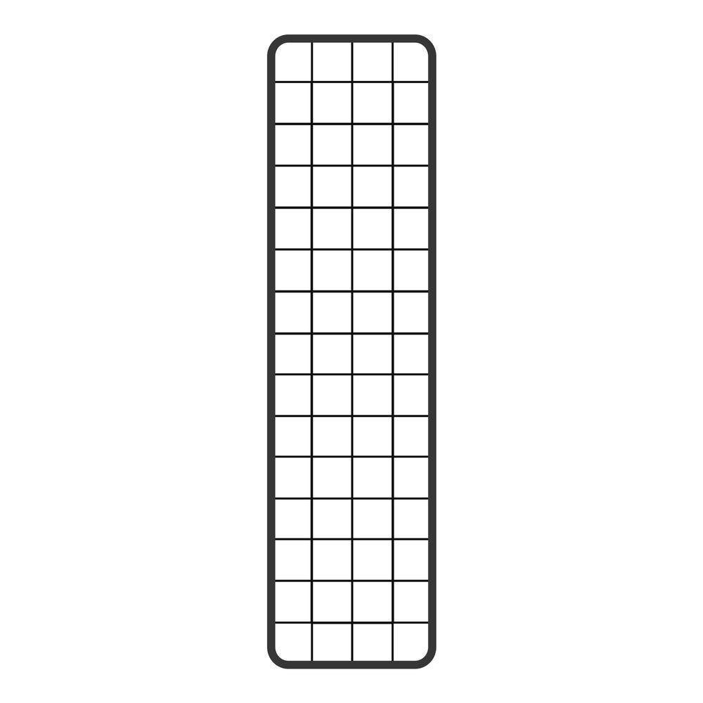 Grille double cadre 150 x 40 cm - gris martelé (photo)