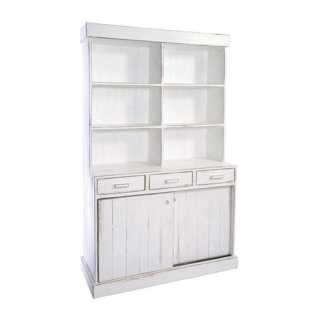 Buffet Héritage blanc patiné L119 x P50 x H200cm (photo)