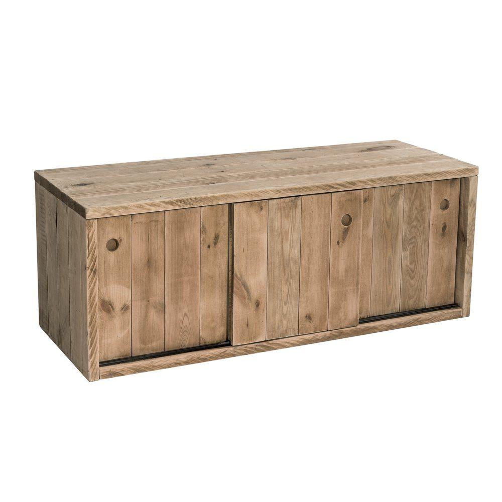 Buffet bas Héritage Westside 3 portes coulissantes L119 x P45 x H46cm (photo)