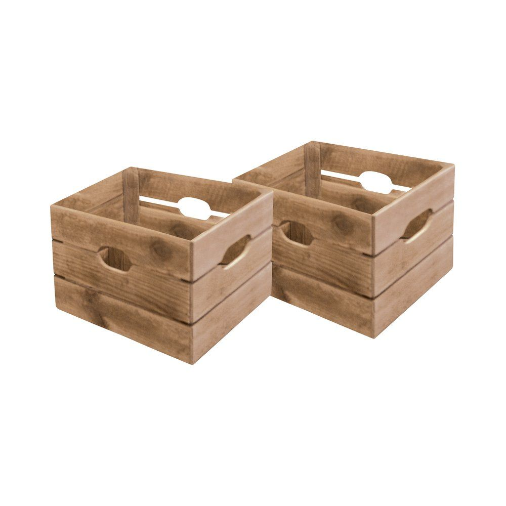 Bac en bois Westside L33 x P36 x H38cm set de 2 (photo)