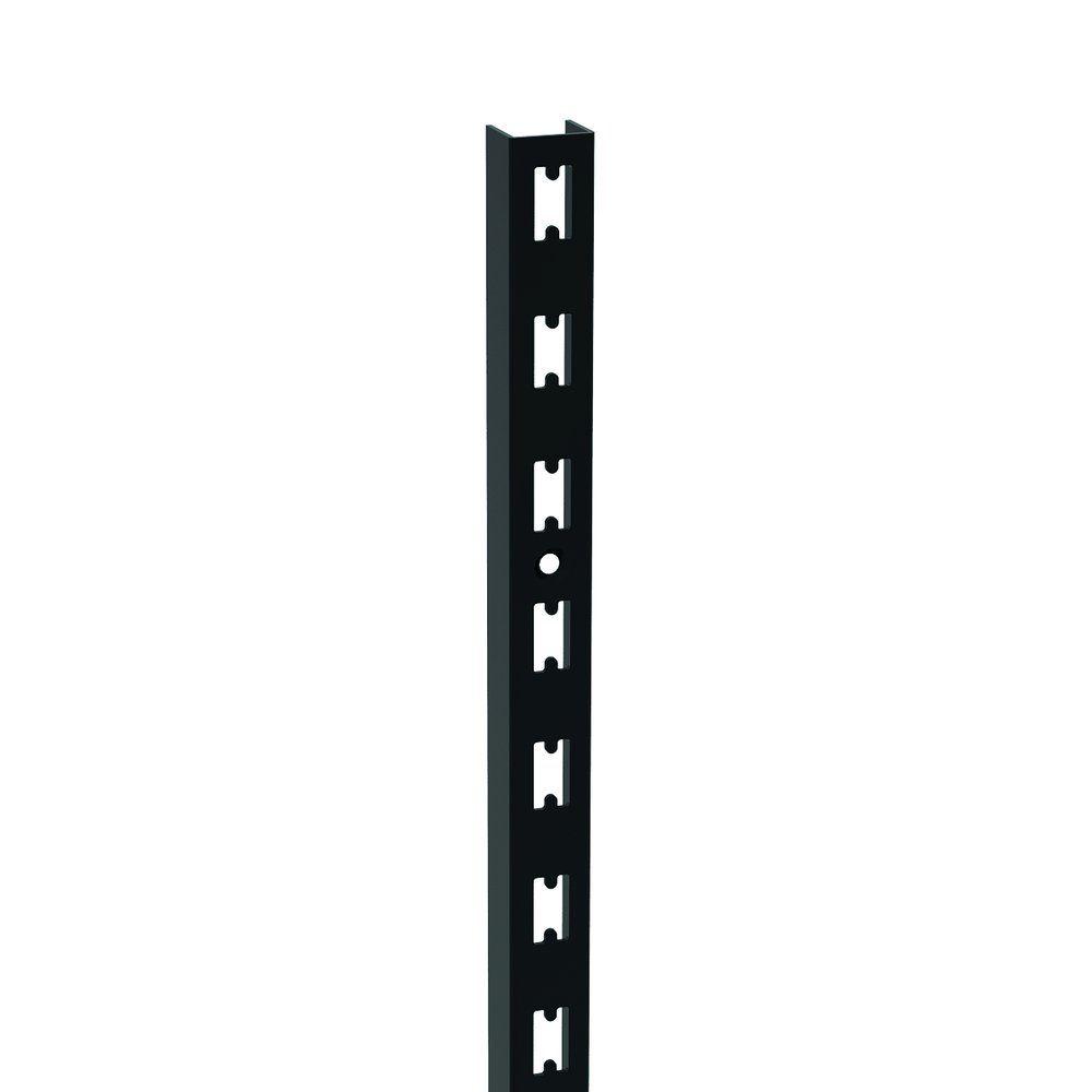 Montant crémaillère H240 noir satiné (photo)