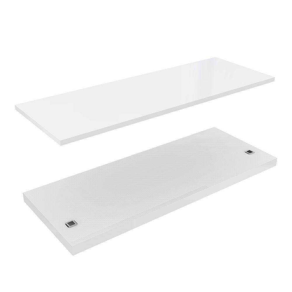 Kit 2 tablettes pour kit02 Blanc 9016 brillant