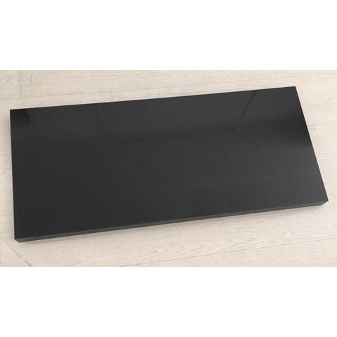 Base en bois pour portant L100 X P40  noir brillant 9005 (photo)