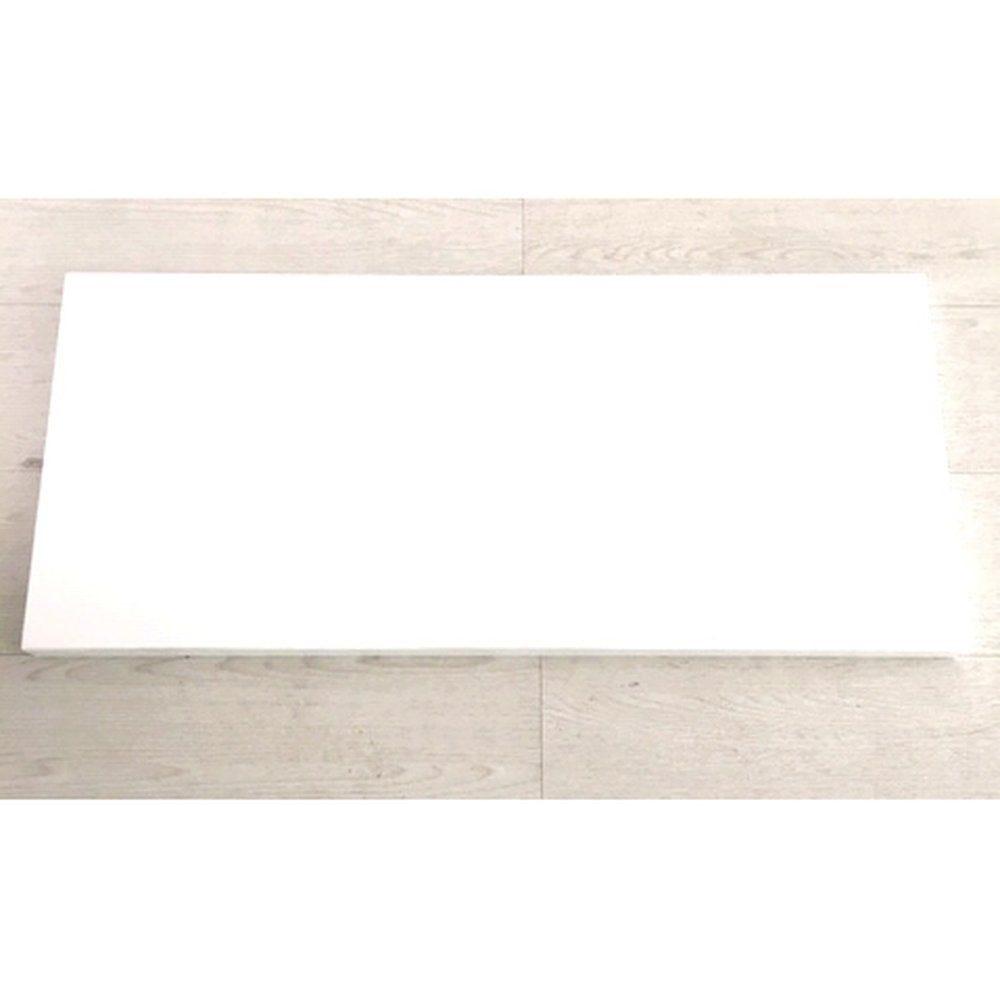 Base en bois pour portant L100 X P40  blanc 9016 brillant (photo)