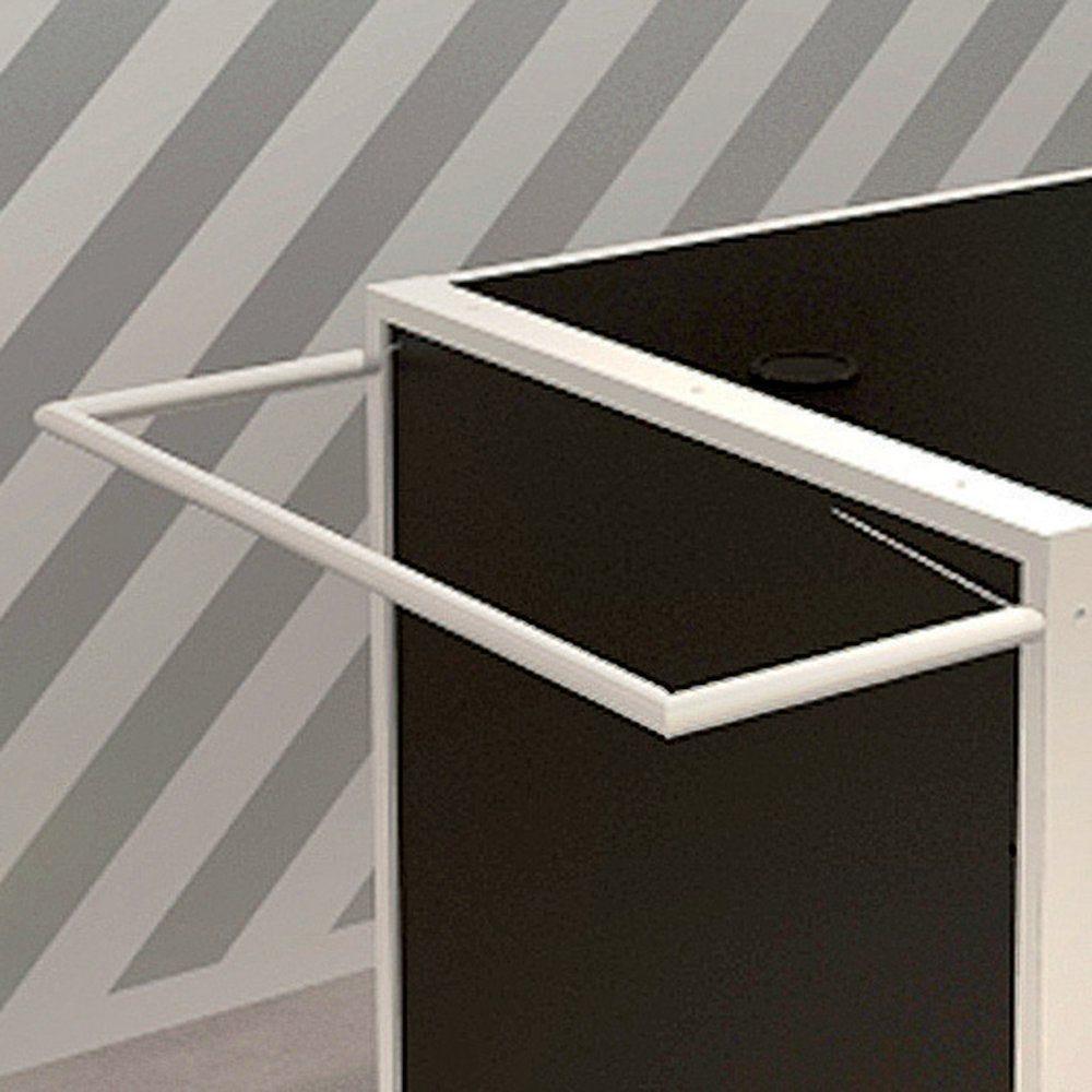 Barre horizontale U pour comptoir Noir RAL 9005 brillant diamètre 16mm (photo)