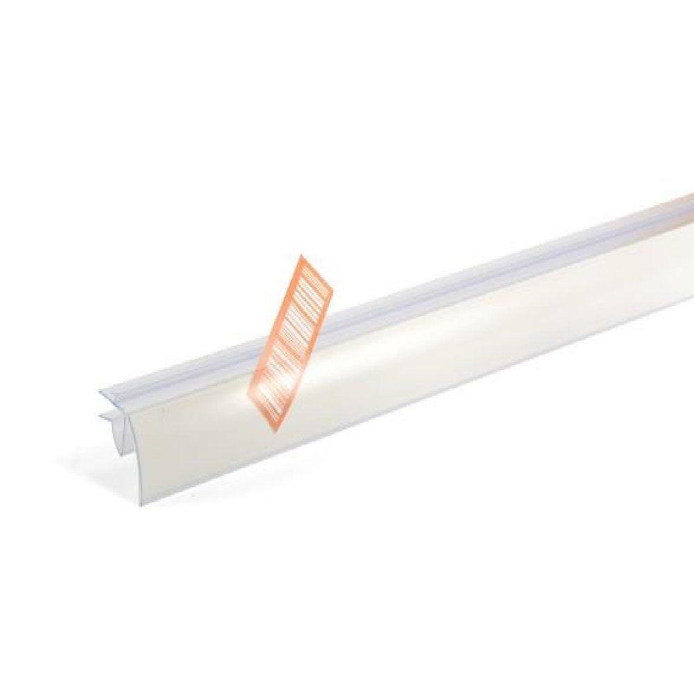 Porte étiquette transparent pour tablette verre 26x988 mm (photo)