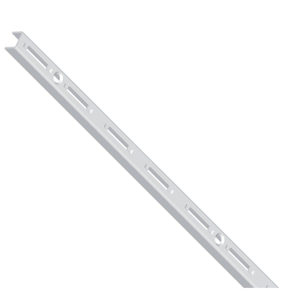 Cremaillere simple L200cm Blanc par 2 (photo)