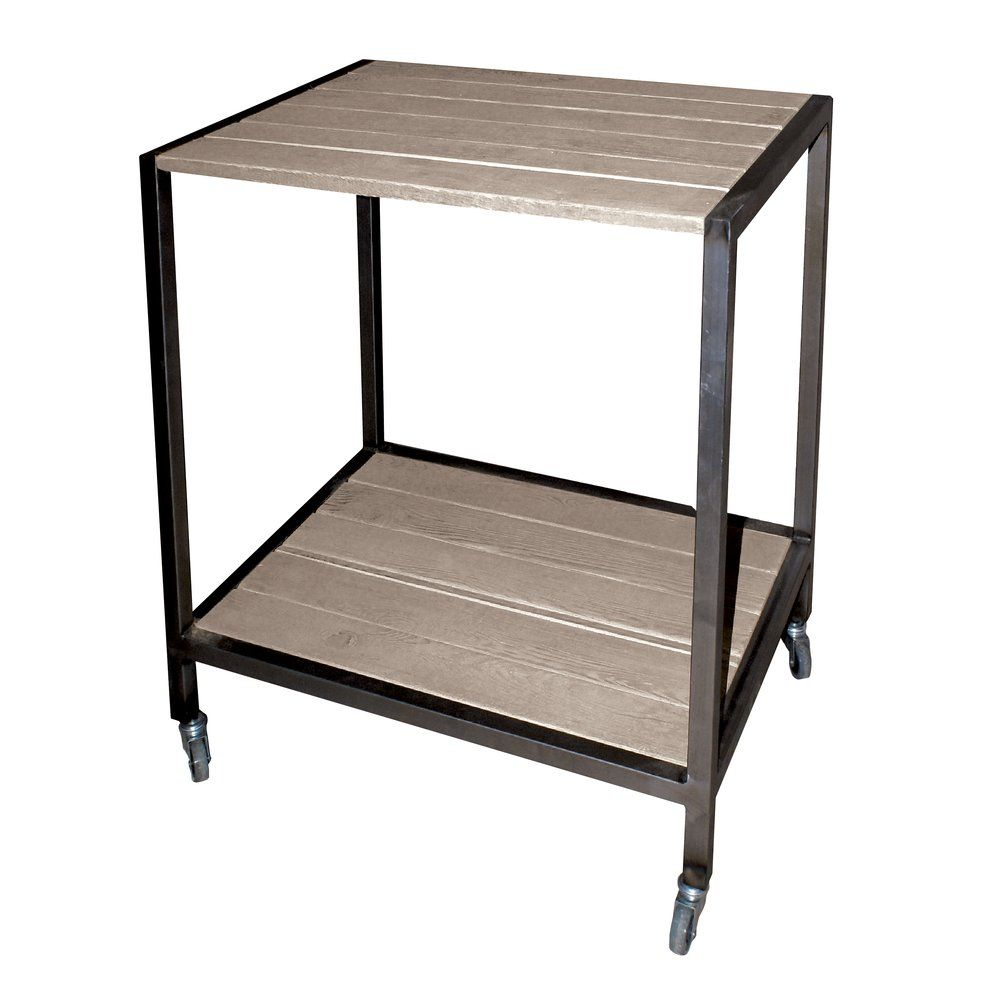 Table centrale Héritage Used bois et métal L.80 x P.59 x H.85cm (photo)
