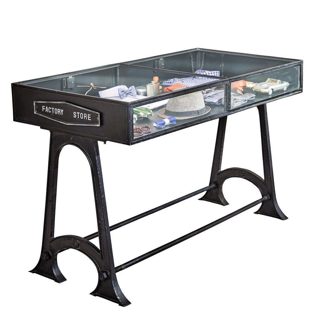 Table vitrine New York L143 x P70 x H90cm