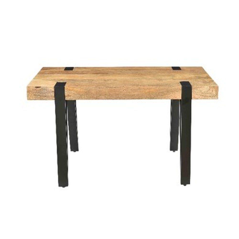 Table bois et métal L90 x P50 x H50cm (photo)