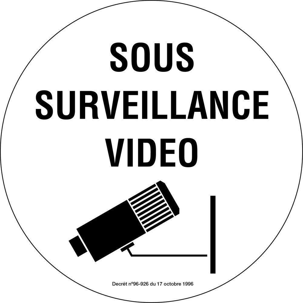 Pictogramme sous vidéo surveillance (photo)