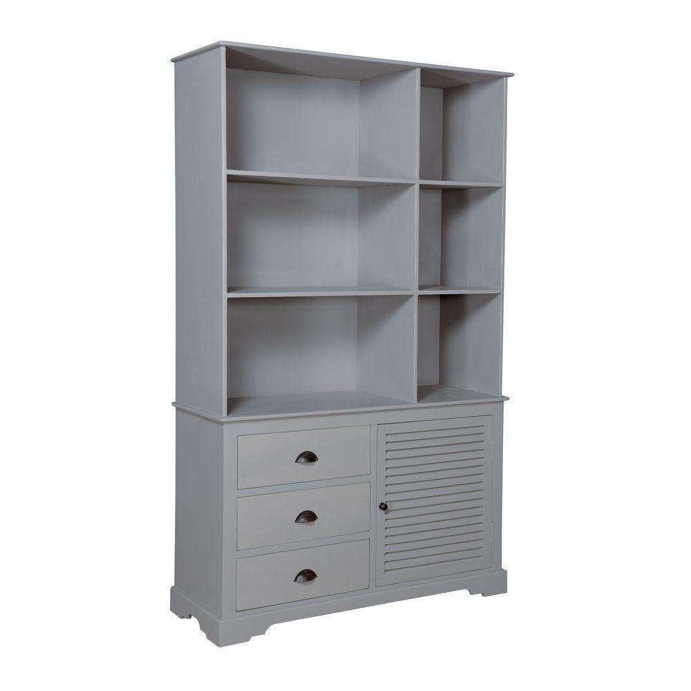 Armoire Romantic grey bois gris L120 x P45 x H200 cm (photo)