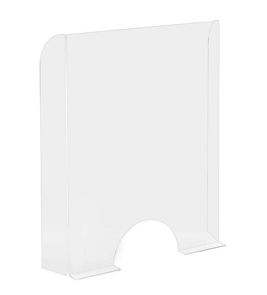 Vitrine de protection de comptoir plexiglas L68 x H95cm ép. 4mm