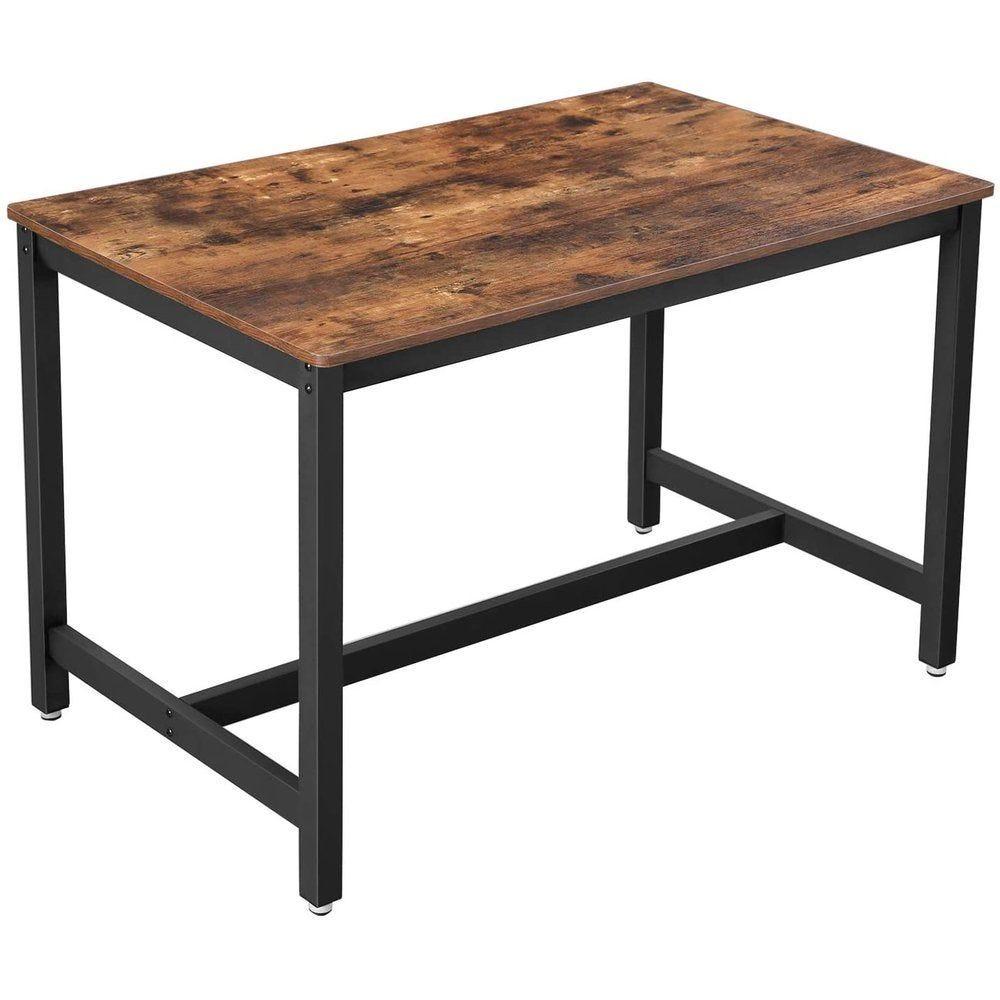 Table bois et métal L120 x P75 x H75 cm